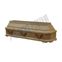 Velveteen Interior Oak Veneer Full Open Coffin