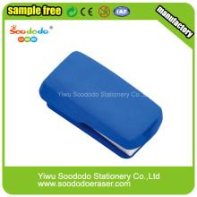 Синий степлер красочные ластики, бесплатный образец Ластик
