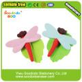 Зеленая стрекоза Ластик, резиновая игрушка ластики