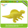Желтый динозавр форме Ластик, резиновый динозавр игрушка Ластик