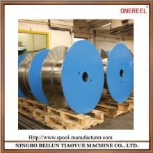 Empty flat steel cable drums for sale