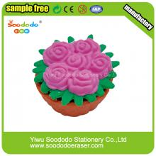 Potted flower  Kawaii Eraser,colored pencil eraser