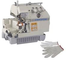 Máquina de costura Overlock para luvas de trabalho
