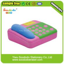 Розовый телефон ластик, говяжью TPR карандаш Канцелярские