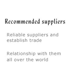 Recommended suppliers
