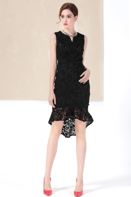 Sheath/Column Lace Short/Mini Sexy Wedding Guest Dresses
