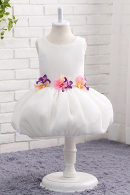 A-Line/Princess Tulle Short/Mini Simple White Flower Girl Dresses