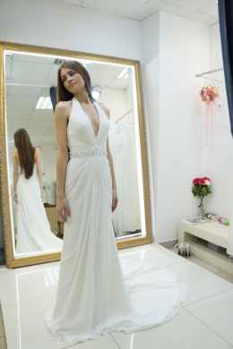 A-Line/Princess Chiffon Sweep Train Bridal Dress Wedding