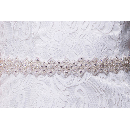Rhinestone Wedding Belt Crystal Sashes for Wedding Party Prom Evening Dresses