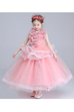 A-Line/Princess Tulle Ankle-Length Flower Dresses for Wedding