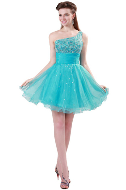 A-Line/Princess Tulle Short/Mini Evening Dresses Cocktail Dresses