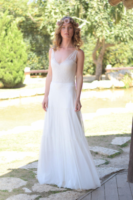 A-Line/Princess Chiffon Floor-Length Gorgeous Wedding Dresses