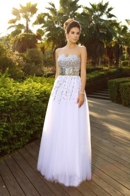 A-Line/Princess Tulle Floor Length Fashionable Wedding Dresses
