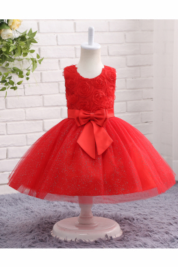 A-Line/Princess Tulle Ankle-Length Short Flower Girl Dress