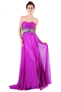A-Line/Princess Chiffon Floor Length Formal Gowns for Sale