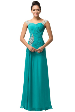 Sheath/Column Chiffon Floor-Length Wedding Dresses Mother of Bride