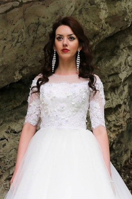 Ball Gown Tulle Court Train Bridal Gowns Wedding Dresses