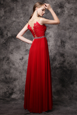 A-Line/Princess Chiffon Floor Length Guest Wedding Dresses