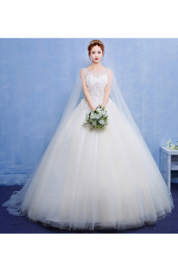 Ball Gown Tulle Floor Length Popular Wedding Dress Designers