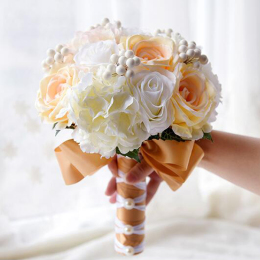 Artificial Flowers Fake Rose Wedding Bridal Bouquet For Home Wedding Party Decoration Princess