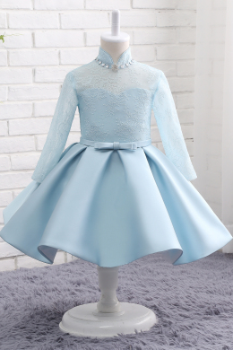 A-Line/Princess Satin Knee-Length New Flower Girl Dresses