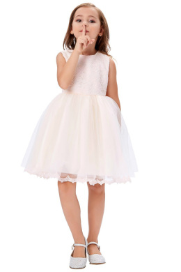 A-Line/Princess Tulle Knee-Length Dresses for Little Girls for Weddings