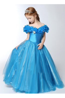 A-Line/Princess Tulle Floor Length Girl Flower Dresses Wedding