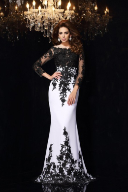 Sheath/Column Chiffon Sweep Train Wedding Party Dresses
