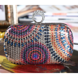 Beaded Evening Bag Party Clutch Women's Handbag Wedding Purse