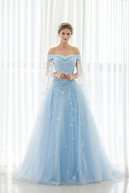 A-Line/Princess Tulle Sweep Train Prom Dress 2017