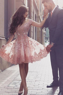 A-Line/Princess Tulle Mini Length Dresses for Wedding Guest