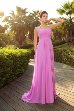 A-Line/Princess Chiffon Floor Length Wedding Dresses and Bridesmaid