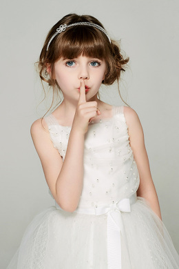 A-Line/Princess Tulle Knee Length Fall Flower Girl Dresses