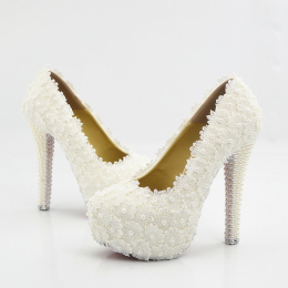 Women's Closed Round Toe Crystal Rhinestone Pumps Stiletto High Heel Bridal Wedding Shoes