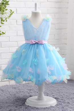 A-Line/Princess Tulle Knee-Length Baby Flower Girl Dresses