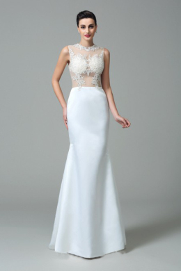 Trumpet/Mermaid Elastic Satin Floor Length Gowns Wedding Dresses