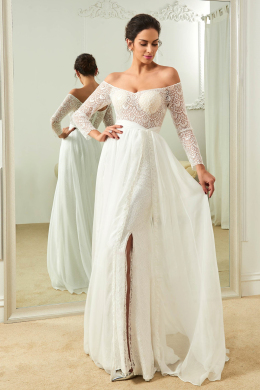 A-Line/Princess Chiffon Floor Length Designer Dresses for a Wedding