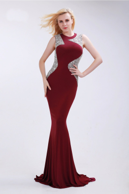 Sheath/Column Chiffon Sweep Train Dresses Occasion Special