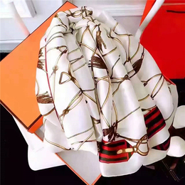 Silk Like Scarf Women's Fashion Pattern Large Square Satin Headscarf