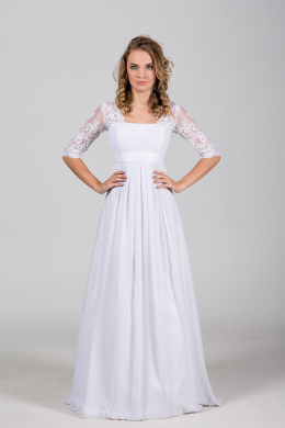 A-Line/Princess Chiffon Floor Length Wedding Dresses And Gowns