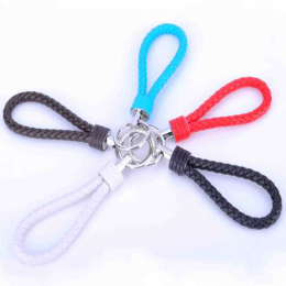 Leather Key-Chains Keyring Handbags Charms Deluxe Key Holder Leather & Metal-Stainless Steel