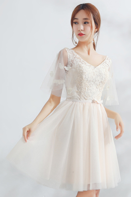 A-Line/Princess Chiffon Knee-Length Cocktail Christmas Dresses