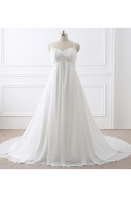 A-Line/Princess Chiffon Sweep Train Wedding Dresses 2017