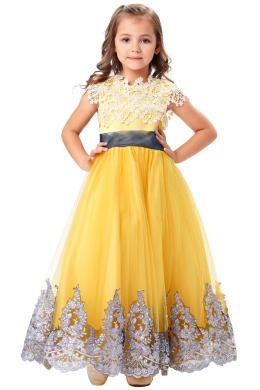 A-Line/Princess Tulle Ankle-Length Flower Girl Dresses for Little Girls