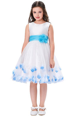 A-Line/Princess Tulle Knee Length Flower Girl Dresses for Little Girls