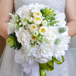 Artificial Silk Flower Bouquet Home Wedding Decoration