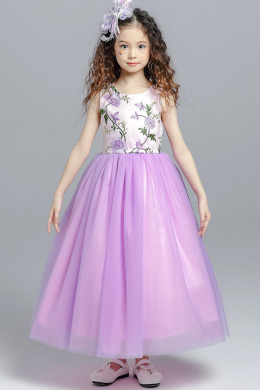 A-Line/Princess Tulle Ankle-Length Flower Girl Dresses for Fall Wedding