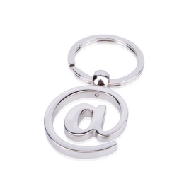 Fashion Car Keychain Silver Color Metal Key Chains Accessory