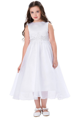 A-Line/Princess Tulle Ankle-Length Little Flower Girl Dress