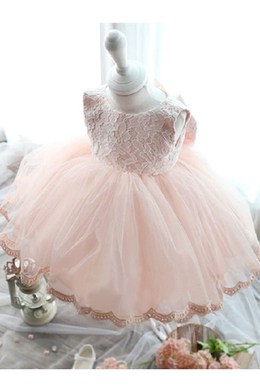 A-Line/Princess Tulle Ankle Length Childrens Flower Girl Dress